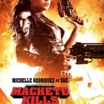 Michelle Rodriguez poses in a sexy eye patch for MACHETE KILLS Poster