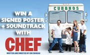 Win soundtrack and signed poster for Chef