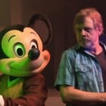 Luke Skywalker and Mickey Mouse play with Lightsabers, Mark Hamill talks Star Wars