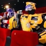 Bumblebee and Optimus Prime Visit First Screening of TRANSFORMERS: AGE OF EXTINCTION at O2 Cineworld London