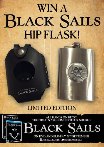 Win Black Sails limited edition hip flask
