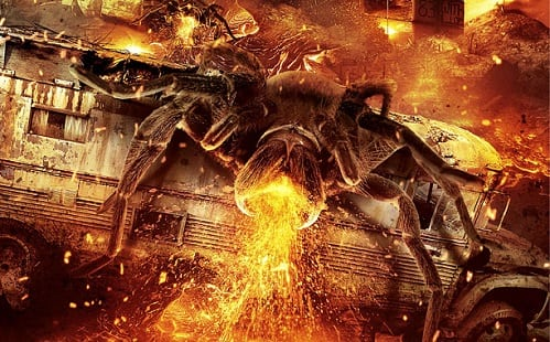 Police Academy cast face fire breathing giant spider in 'Lavalantula'