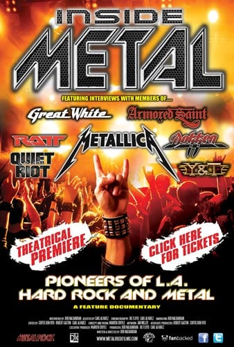 'Inside Metal: Pioneers of L.A. Hard Rock & Metal' To Premiere In Hollywood on 6th November 2014