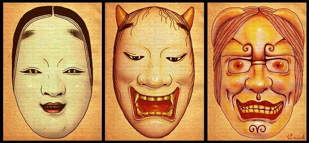 Examples of Japanese Noh Masks