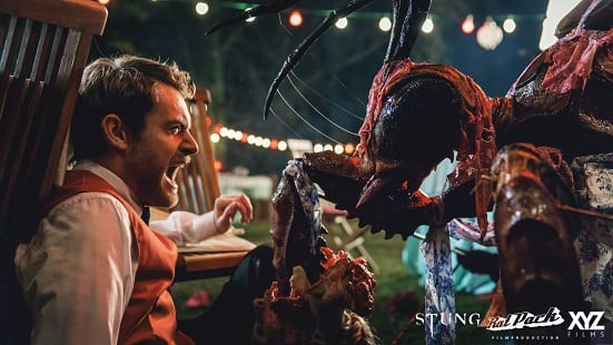 Run!!! A giant wasp attacks in this clip from 'Stung'