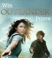 Win Outlander blanket and pocket watch