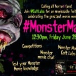 Join The Twitter #MonsterMash Party This Friday 26th June 2015 at 12.30pm!