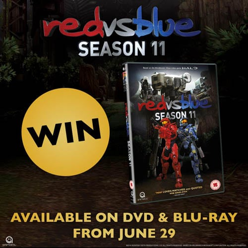 Win Red vs Blue Season 11 on DVD