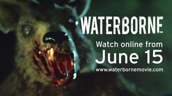 A few years ago a crowd funding campaign was set up to help support Australian killer Kangaroo horror, Waterborne, and now the short film is available ...