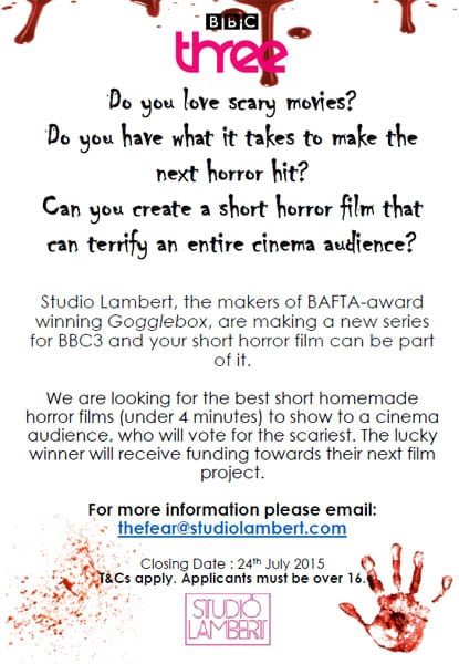 Short Horror Films Wanted For New BBC Programme THE FEAR