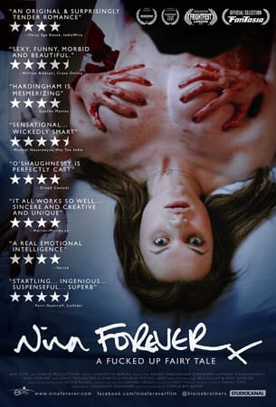 Win Nina Forever screening tickets and Horror DVD bundle