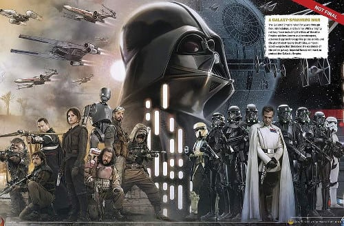 rogue one art darth vader 2