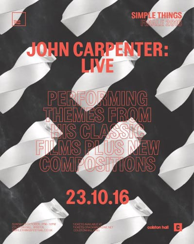 JOHN CARPENTER LIVE AT COLSTON HALL, BRISTOL, 23RD OCTOBER - Gig Review