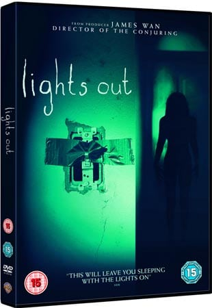WIN A COPY OF LIGHTS OUT ON DVD  - COMES TO BLU-RAY™, DVD AND DIGITAL DOWNLOAD FROM WARNER BROS. HOME ENTERTAINMENT ON DECEMBER 12