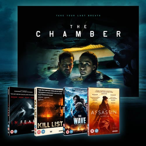 Win The Chamber poster and DVD bundle